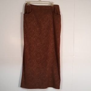 "NWT WOMEN'S ""TRIBAL"" LONG Sz4 Brown Skirt NOS"